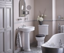 Claverton Suite with Holywell Metallic Effect Acrylic Bath in Steel