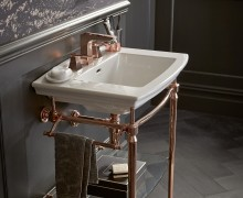 Abingdon Washstand in Rose Gold and Blenheim Basin
