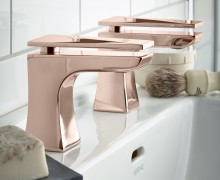 Hembsy Basin Taps in Rose Gold