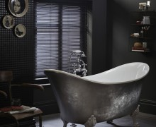 Lyddington Metallic Effect Acrylic Bath in Steel