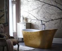 Holywell Metallic Effect Acrylic Bath in Gold
