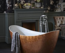 Hylton Metallic Effect Acrylic Bath in Copper